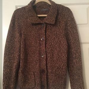 Liz Claiborne Cardigan Sweater; Large